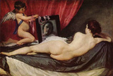Diego Velazquez (Venus with Mirror (Rokeby Venus)) Art Poster Print Posters