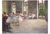 Edgar Germain Hilaire Degas (Ballet rehearsal) Art Poster Print Prints