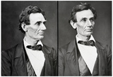 Abraham Lincoln Diptych Archival Photo Poster Print Prints