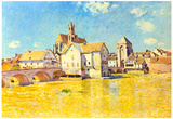 Alfred Sisley Bridge of Moret in Morning Sun Art Print Poster Print