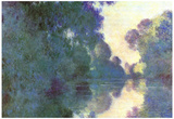 Claude Monet Morning on the Seine at Giverny Art Print Poster Posters