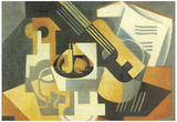 Juan Gris Guitar and Fruit Bowl Cubism Art Print Poster Prints