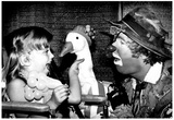 Clown With Goose Puppet Archival Photo Poster Photo