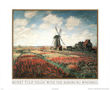 Claude Monet (Tulip Fields) Art Print Poster Masterprint