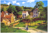Camille Pissarro Le Hermitage at Pontoise Art Print Poster Posters