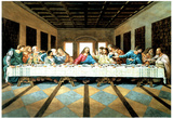 Last Supper Art Print Poster Jesus Christ Leonardo da Vinci Posters