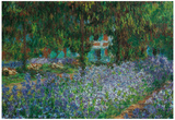 Claude Monet (Artist's Gardens at Giverny) Art Print Poster Posters
