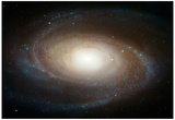 Hubble Photographs Grand Design Spiral Galaxy M81 Space Photo Art Poster Print Zdjęcie