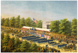 Glorious Army of Potomac Grand Review in Washington 1865 Art Print Poster Poster