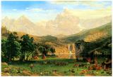 Albert Bierstadt Rocky Montains at Lander's Peak Art Print Poster Prints