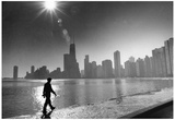 Chicago Skyline Archival Photo Poster Print - Reprodüksiyon