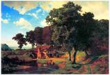 Albert Bierstadt A Rustic Mill Art Print Poster Obrazy