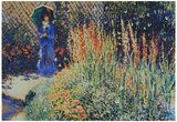 Claude Monet The Peasant Wife's Garden Art Print Poster Posters