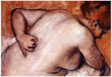 Edgar Degas Woman's Back Art Print Poster Posters