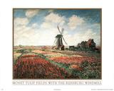 Claude Monet (Tulip Fields) Art Print Poster Photo