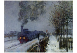 Claude Monet (Train in the Snow) Art Poster Print Posters