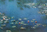 Claude Monet (Water Lilies in Pond) Art Poster Print Masterprint