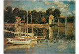 Claude Monet (Bridge at Argenteuil) Art Poster Print Poster