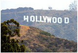 Hollywood Sign (Front) Art Poster Print Print