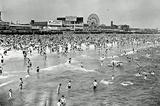 Coney Island Beach Archival Photo Poster Print Masterprint
