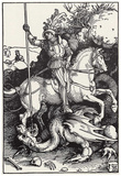 Albrecht Durer (St. George killing the dragon) Art Poster Print Posters