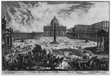 Giovanni Battista Piranesi (Vedute with St. Peter and St. Peter's Square in Vatican City) Art Poste Posters
