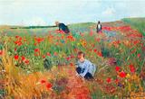 Mary Cassatt Poppy In The Field Art Print Poster Masterprint