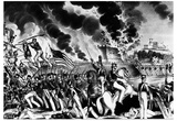 Battle of Molino del Rey (Blowing up the Foundry, Mexican-American War, 1847) Art Poster Print Photo