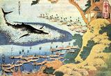 Katsushika Hokusai Ocean Landscape with a Huge Whale Art Poster Print Masterprint