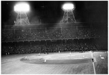 Night Game Archival Photo Sports Poster Posters