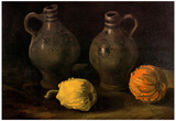 Vincent Van Gogh Still Life with Two Jars and Two Pumpkins Art Print Poster Poster