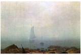 Caspar David Friedrich (Fog) Art Poster Print Posters
