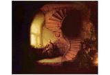 Rembrandt Harmensz. van Rijn (The philosopher) Art Poster Print Posters