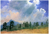 Albert Bierstadt Fir Trees and Storm Clouds Art Print Poster Póster