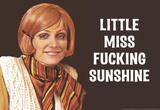 Little Miss F*cking Sunshine Funny Art Poster Print Masterprint