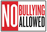 No Bullying Allowed Classroom Poster Plakát
