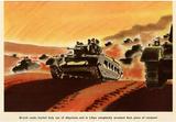 British Tanks WWII War Propaganda Art Print Poster Masterprint
