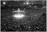 Boxing at Comiskey Park Archival Photo Sports Poster Print