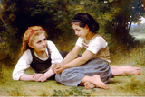 William-Adolphe Bouguereau The Nut Gatherers Art Print Poster Masterprint