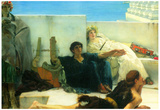 Lawrence Alma-Tadema A Reading of Homer Detail Art Print Poster Posters