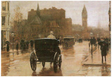 Childe Hassam Columbus Avenue Art Print Poster Photo