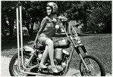 Motorcycle Girl 1960's Archival Photo Poster Print Posters