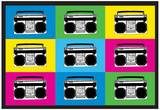 Boombox Stereos 2 Pop Art Print Poster Affiches