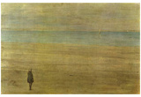 James Abbot McNeill Whistler (Harmony in Blue and Silver: Trouville) Art Poster Print Poster