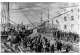 Boston Tea Party (Unloading Boat) Art Poster Print Prints