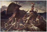 Jean Louis Théodore Géricault (The Raft of the Medusa) Art Poster Print Posters