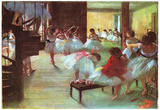 Edgar Germain Hilaire Degas (Ballet School) Art Poster Print Posters