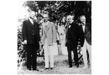 Henry Ford with Herbert Hoover, Thomas Edison, Harvey Firestone, Poster