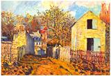 Alfred Sisley Village of Voisins Art Print Poster Prints