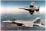 F/A 18E Super Hornets (Flying High) Art Poster Print Prints